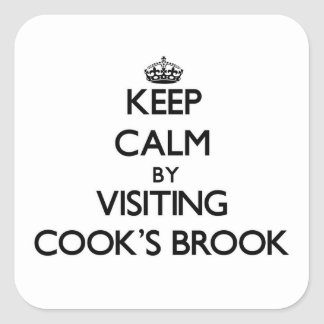 Keep calm by visiting Cook'S Brook Massachusetts Square Stickers