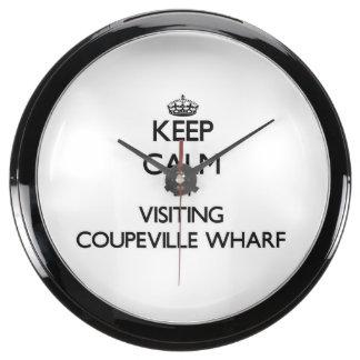Keep calm by visiting Coupeville Wharf Washington Aquarium Clock