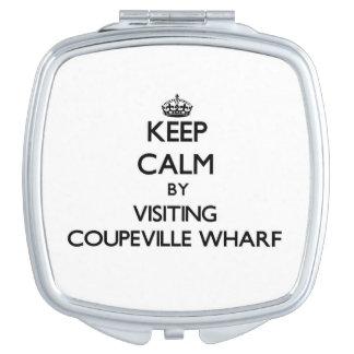 Keep calm by visiting Coupeville Wharf Washington Compact Mirror