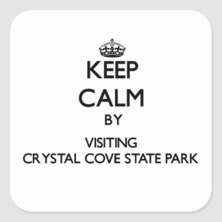 Keep calm by visiting Crystal Cove State Park Cali Sticker