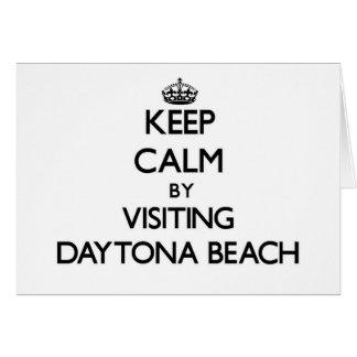 Keep calm by visiting Daytona Beach Florida Card