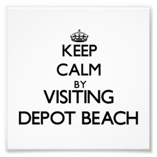 Keep calm by visiting Depot Beach Michigan Photographic Print
