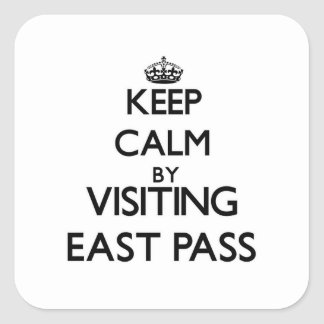 Keep calm by visiting East Pass Florida Square Stickers