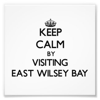 Keep calm by visiting East Wilsey Bay Michigan Photo Print