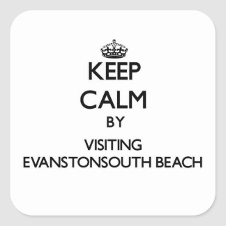 Keep calm by visiting Evanstonsouth Beach Illinois Sticker