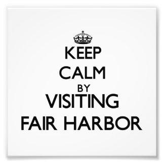 Keep calm by visiting Fair Harbor New York Photographic Print