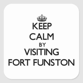 Keep calm by visiting Fort Funston California Sticker