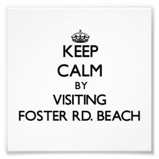 Keep calm by visiting Foster Rd Beach Michigan Photo Art
