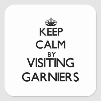 Keep calm by visiting Garniers Florida Square Stickers