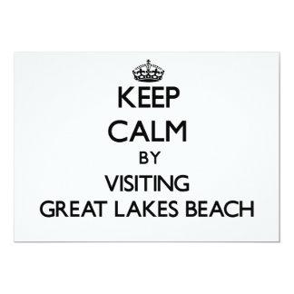 "Keep calm by visiting Great Lakes Beach Michigan 5"" X 7"" Invitation Card"