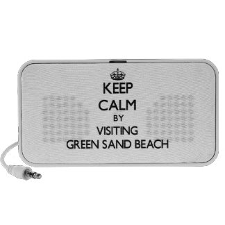 Keep calm by visiting Green Sand Beach Hawaii PC Speakers