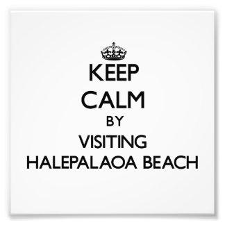 Keep calm by visiting Halepalaoa Beach Hawaii Photo