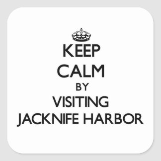 Keep calm by visiting Jacknife Harbor Massachusett Sticker