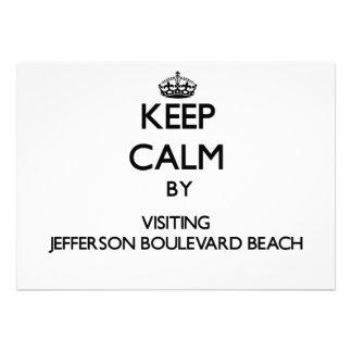 Keep calm by visiting Jefferson Boulevard Beach Ne Custom Announcements