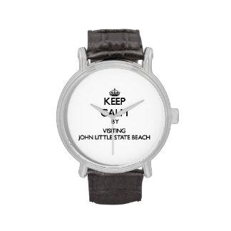 Keep calm by visiting John Little State Beach Cali Watch