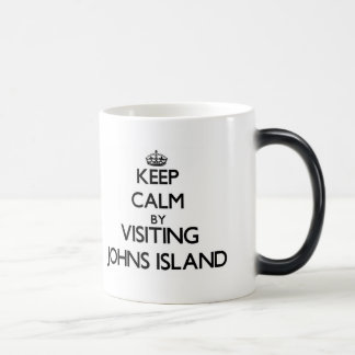 Keep calm by visiting Johns Island Washington Coffee Mugs
