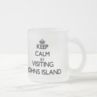Keep calm by visiting Johns Island Washington Frosted Glass Mug