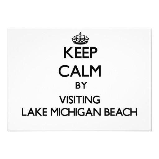 Keep calm by visiting Lake Michigan Beach Michigan Cards