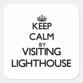 Keep calm by visiting Lighthouse Massachusetts Sticker