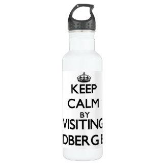 Keep calm by visiting Lindberg Bay Virgin Islands 710 Ml Water Bottle