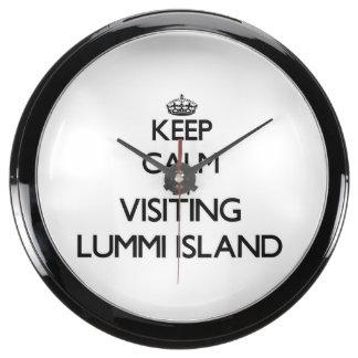 Keep calm by visiting Lummi Island Washington Aquavista Clock