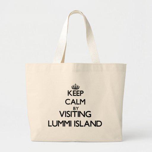 Keep calm by visiting Lummi Island Washington Bags