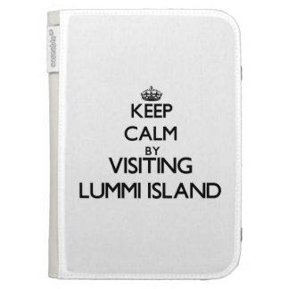 Keep calm by visiting Lummi Island Washington Kindle Cover