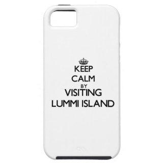 Keep calm by visiting Lummi Island Washington iPhone 5 Cover