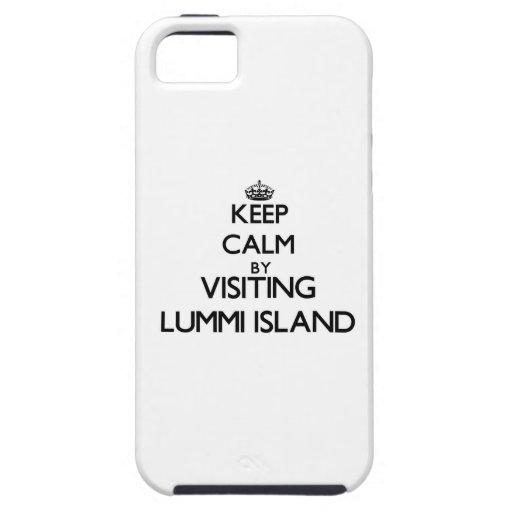 Keep calm by visiting Lummi Island Washington iPhone 5/5S Case
