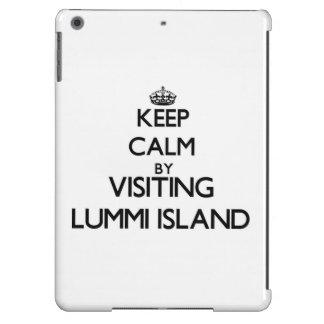 Keep calm by visiting Lummi Island Washington iPad Air Covers