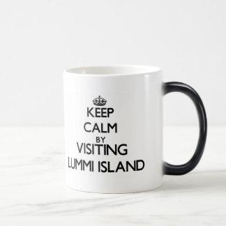 Keep calm by visiting Lummi Island Washington Morphing Mug