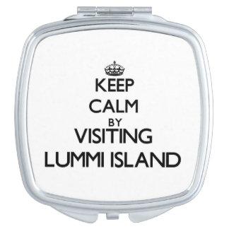 Keep calm by visiting Lummi Island Washington Travel Mirrors