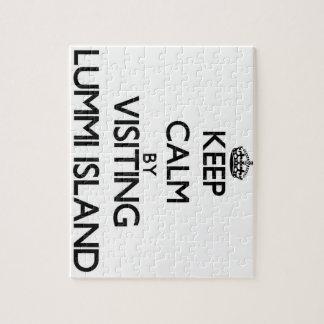 Keep calm by visiting Lummi Island Washington Jigsaw Puzzles