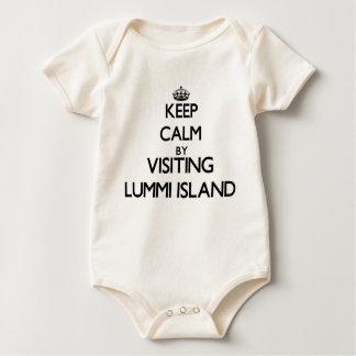 Keep calm by visiting Lummi Island Washington Bodysuits
