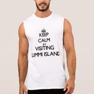 Keep calm by visiting Lummi Island Washington Sleeveless Shirts