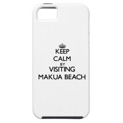 Keep calm by visiting Makua Beach Hawaii iPhone 5/5S Case