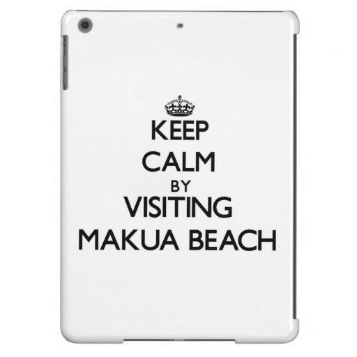 Keep calm by visiting Makua Beach Hawaii iPad Air Cover