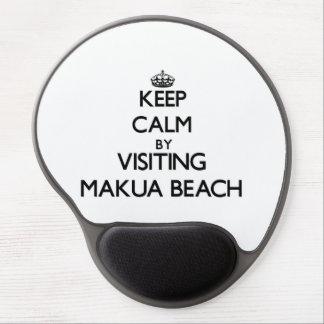 Keep calm by visiting Makua Beach Hawaii Gel Mouse Pad