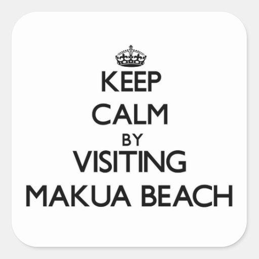 Keep calm by visiting Makua Beach Hawaii Stickers