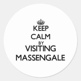 Keep calm by visiting Massengale Georgia Round Sticker