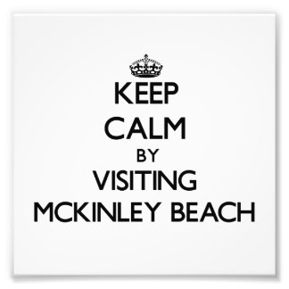 Keep calm by visiting Mckinley Beach Wisconsin Photograph