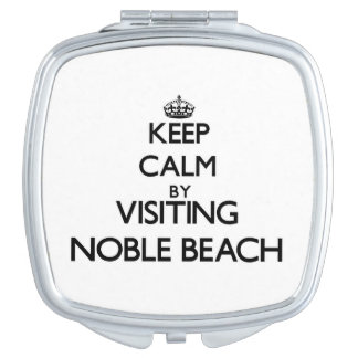 Keep calm by visiting Noble Beach Ohio Travel Mirrors