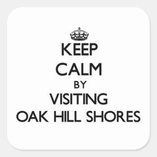 Keep calm by visiting Oak Hill Shores Massachusett Square Sticker