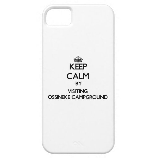 Keep calm by visiting Ossineke Campground Michigan iPhone 5 Covers