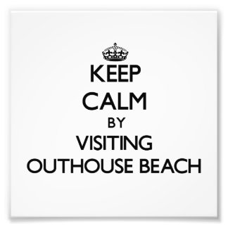 Keep calm by visiting Outhouse Beach Guam Photo Print