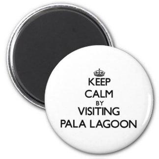 Keep calm by visiting Pala Lagoon Samoa Fridge Magnets