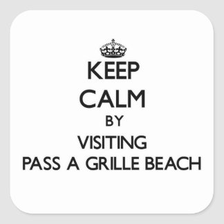 Keep calm by visiting Pass-A-Grille Beach Florida Stickers