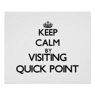 Keep calm by visiting Quick Point Florida Posters
