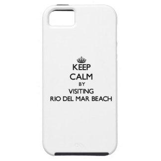 Keep calm by visiting Rio Del Mar Beach California iPhone 5 Cases