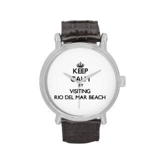 Keep calm by visiting Rio Del Mar Beach California Wrist Watches